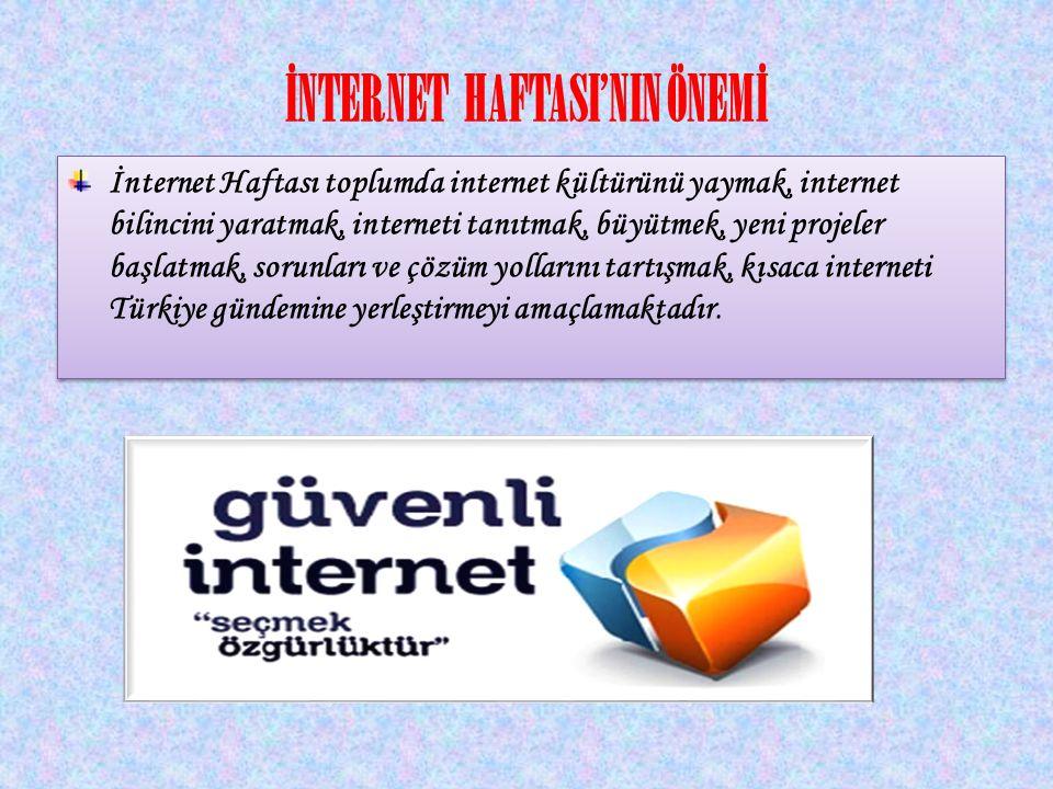 İNTERNET HAFTASI'NIN ÖNEMİ