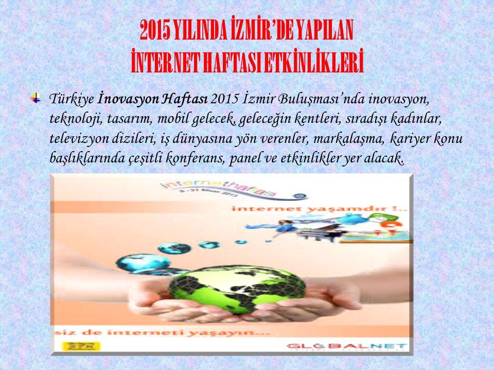 2015 YILINDA İZMİR'DE YAPILAN İNTERNET HAFTASI ETKİNLİKLERİ