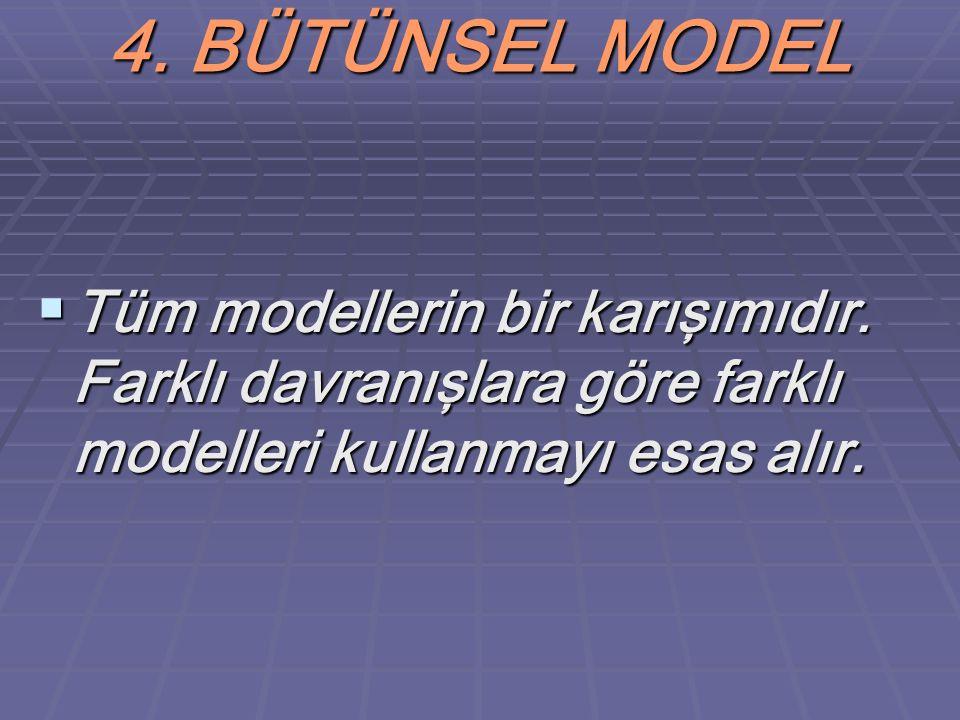 4. BÜTÜNSEL MODEL Tüm modellerin bir karışımıdır.