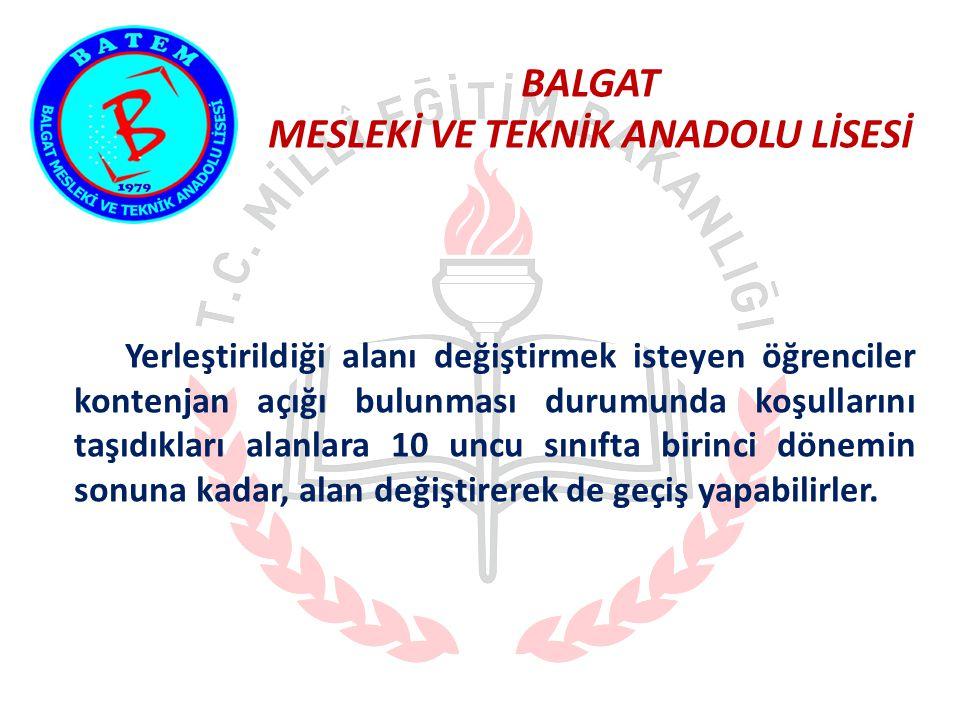 BALGAT MESLEKİ VE TEKNİK ANADOLU LİSESİ