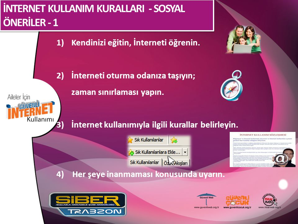 İNTERNET KULLANIM KURALLARI - SOSYAL ÖNERİLER - 1