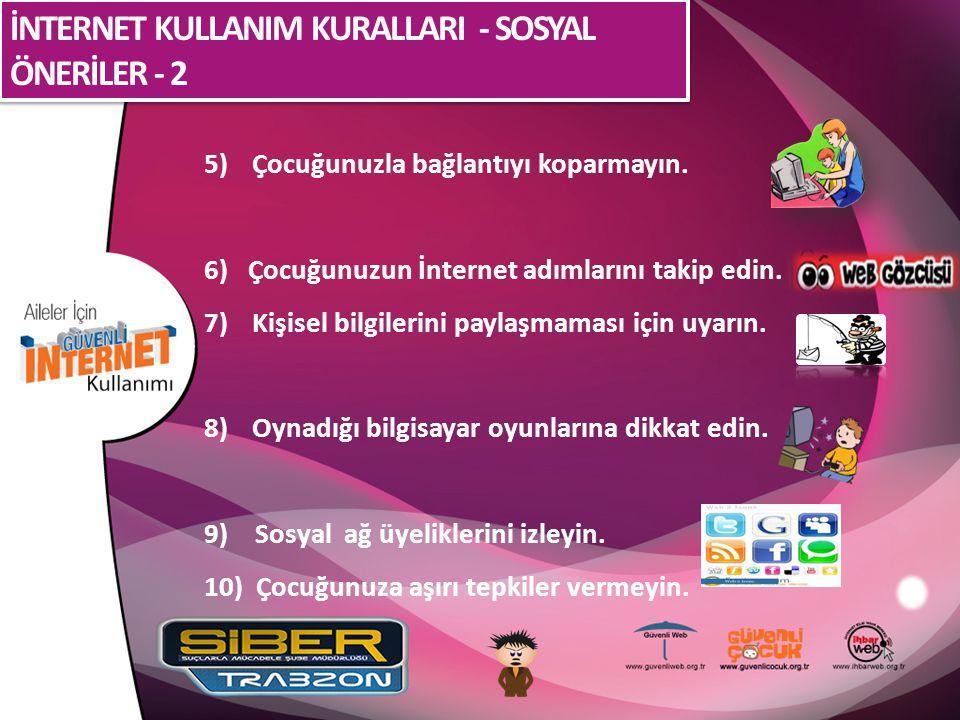 İNTERNET KULLANIM KURALLARI - SOSYAL ÖNERİLER - 2