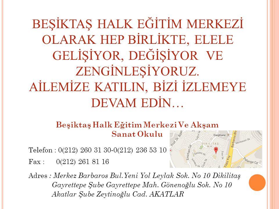 Beşiktaş Halk Eğitim Merkezi Ve Akşam Sanat Okulu