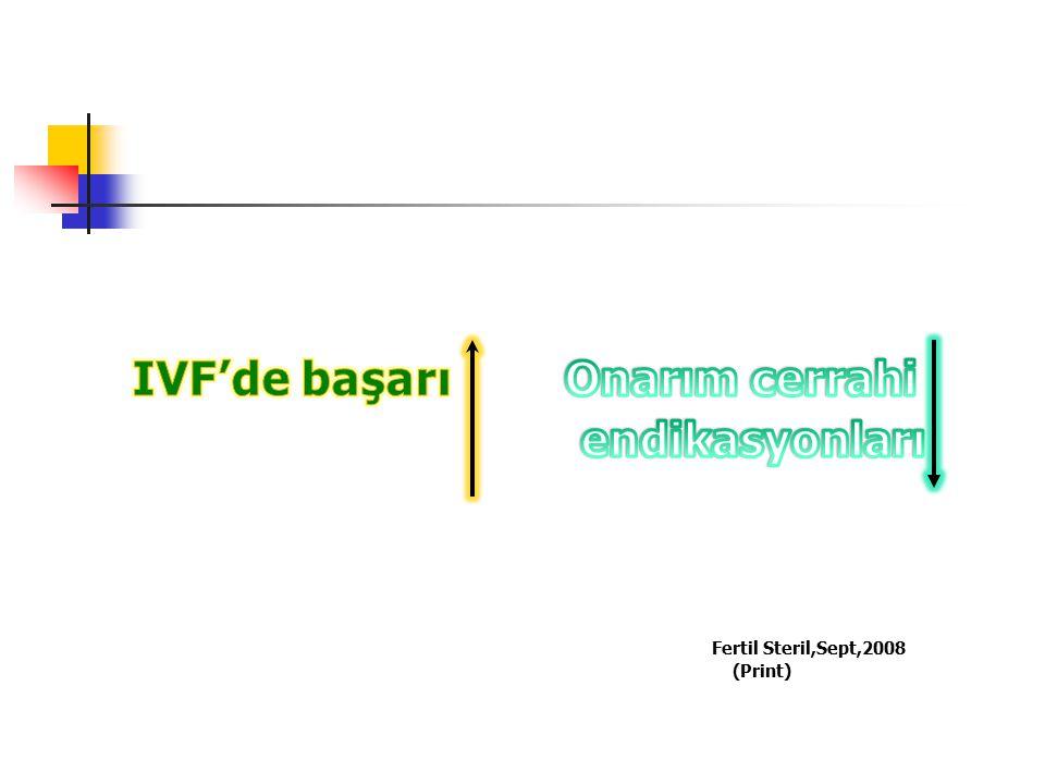 IVF'de başarı Onarım cerrahi endikasyonları