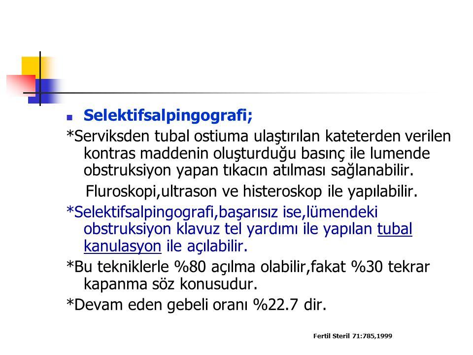 Selektifsalpingografi;