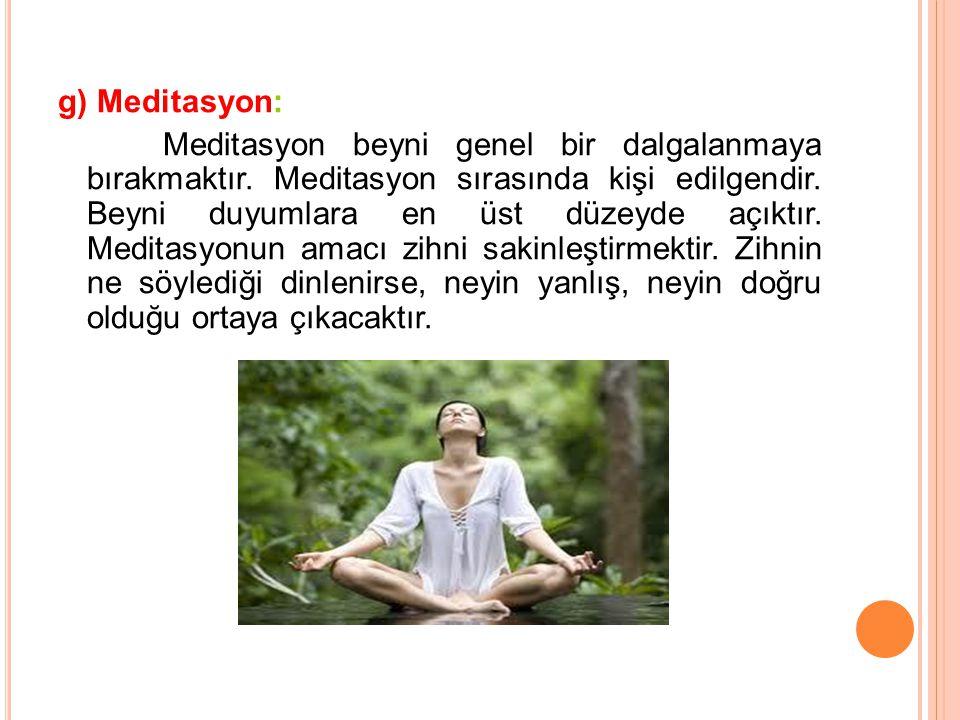 g) Meditasyon: