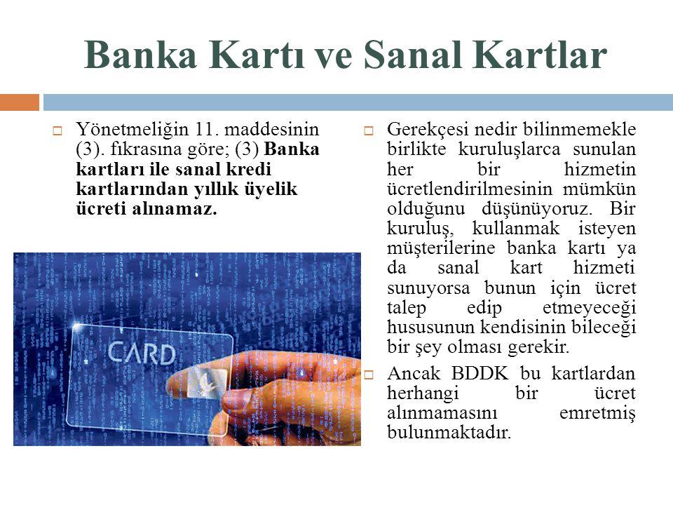 Banka Kartı ve Sanal Kartlar
