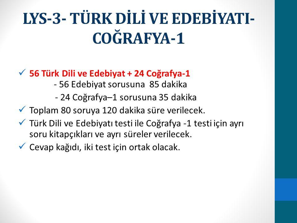 LYS-3- TÜRK DİLİ VE EDEBİYATI-COĞRAFYA-1