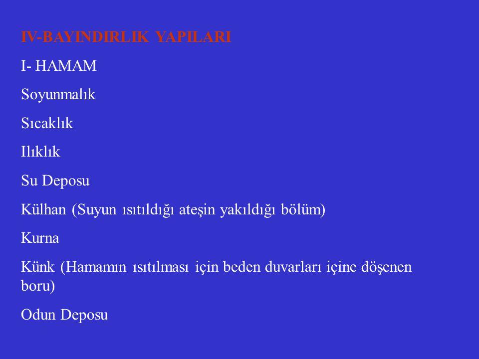 IV-BAYINDIRLIK YAPILARI