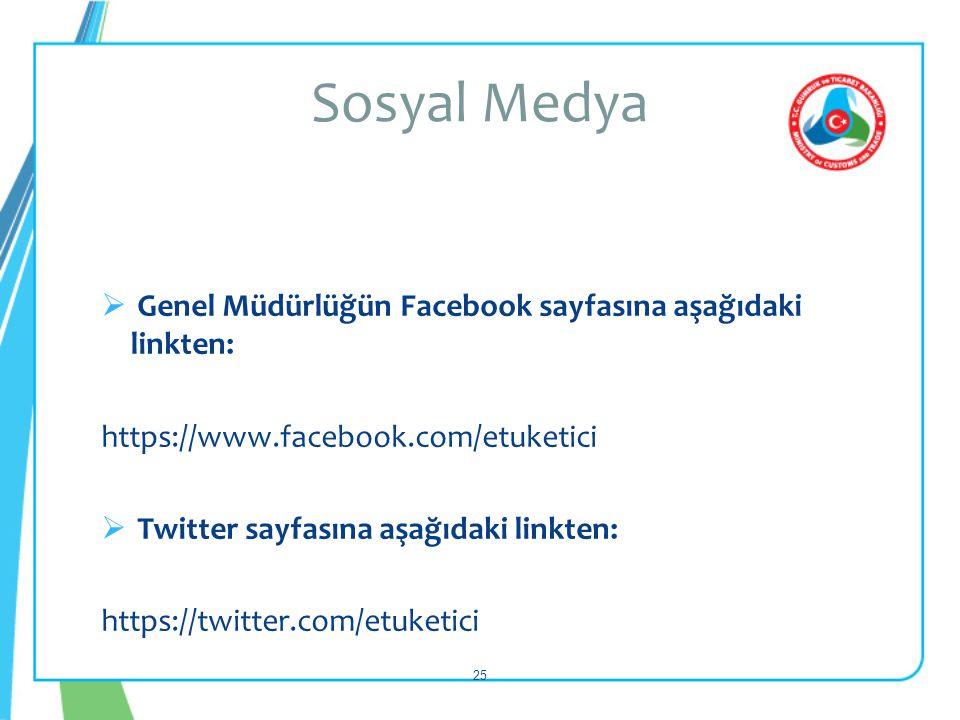 Sosyal Medya Genel Müdürlüğün Facebook sayfasına aşağıdaki linkten:
