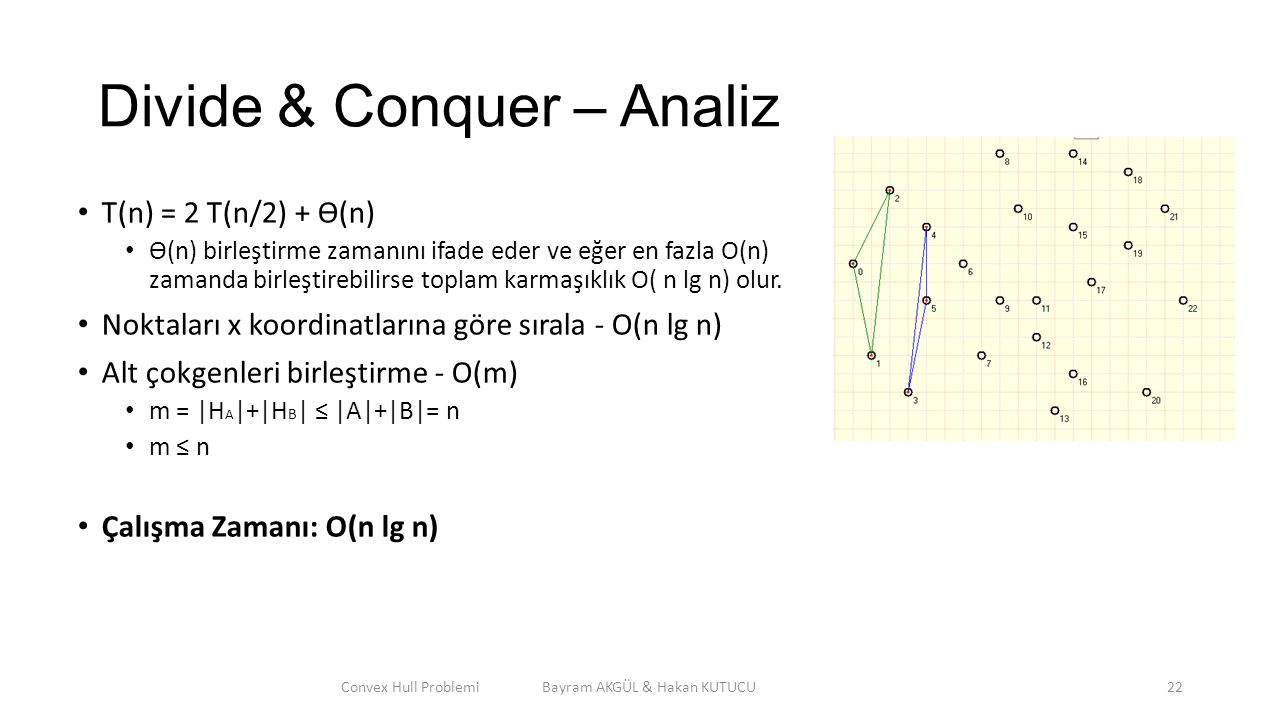 Divide & Conquer – Analiz