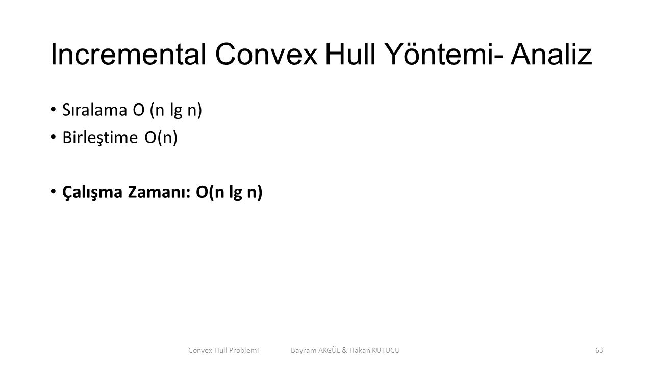 Incremental Convex Hull Yöntemi- Analiz