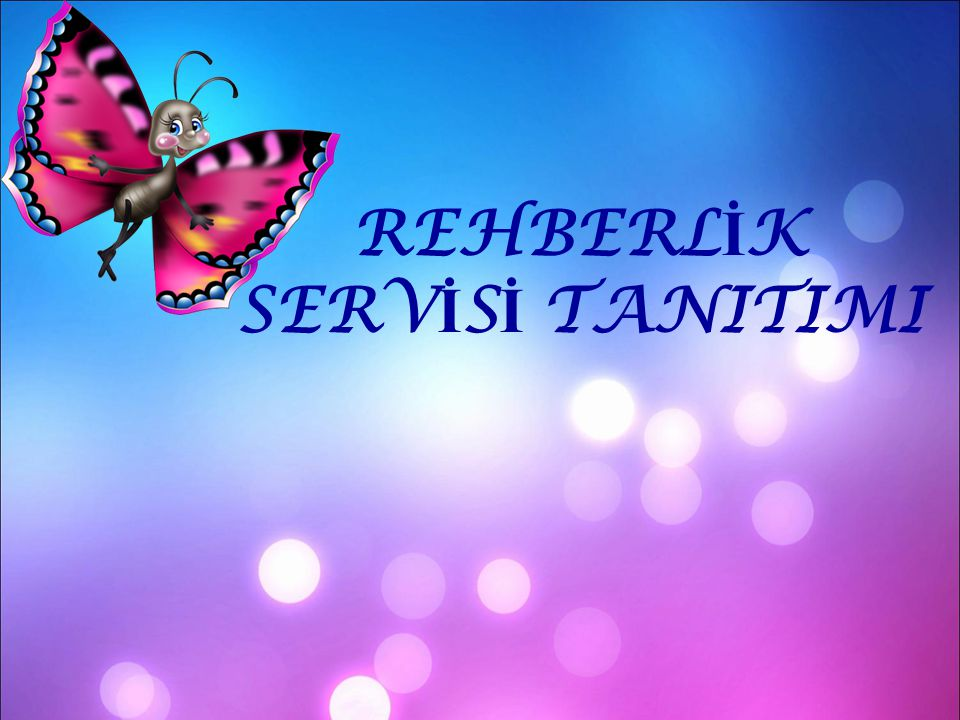 REHBERLİK SERVİSİ TANITIMI