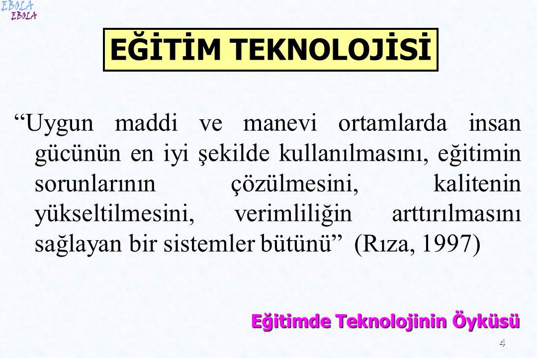 EBOLA EĞİTİM TEKNOLOJİSİ.