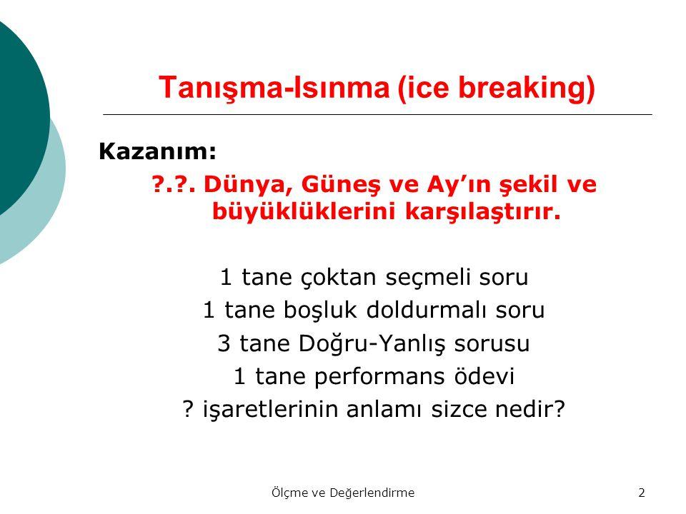 Tanışma-Isınma (ice breaking)