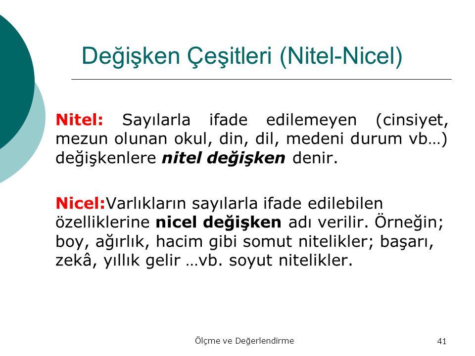Değişken Çeşitleri (Nitel-Nicel)