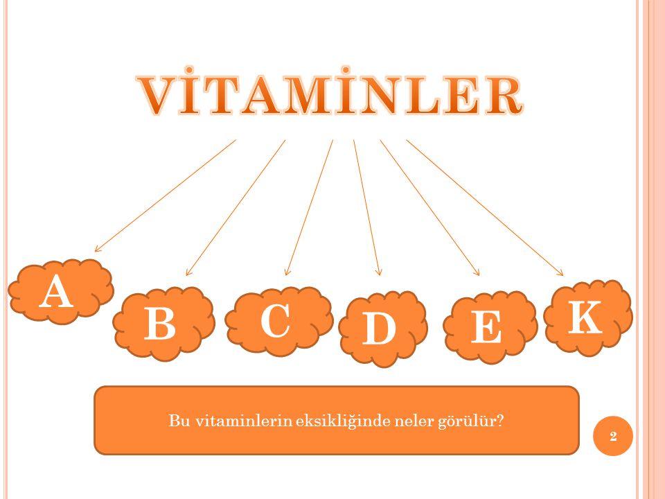 Bu vitaminlerin eksikliğinde neler görülür