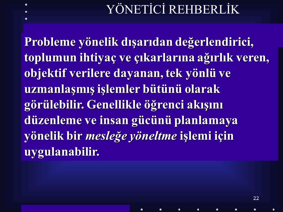 YÖNETİCİ REHBERLİK