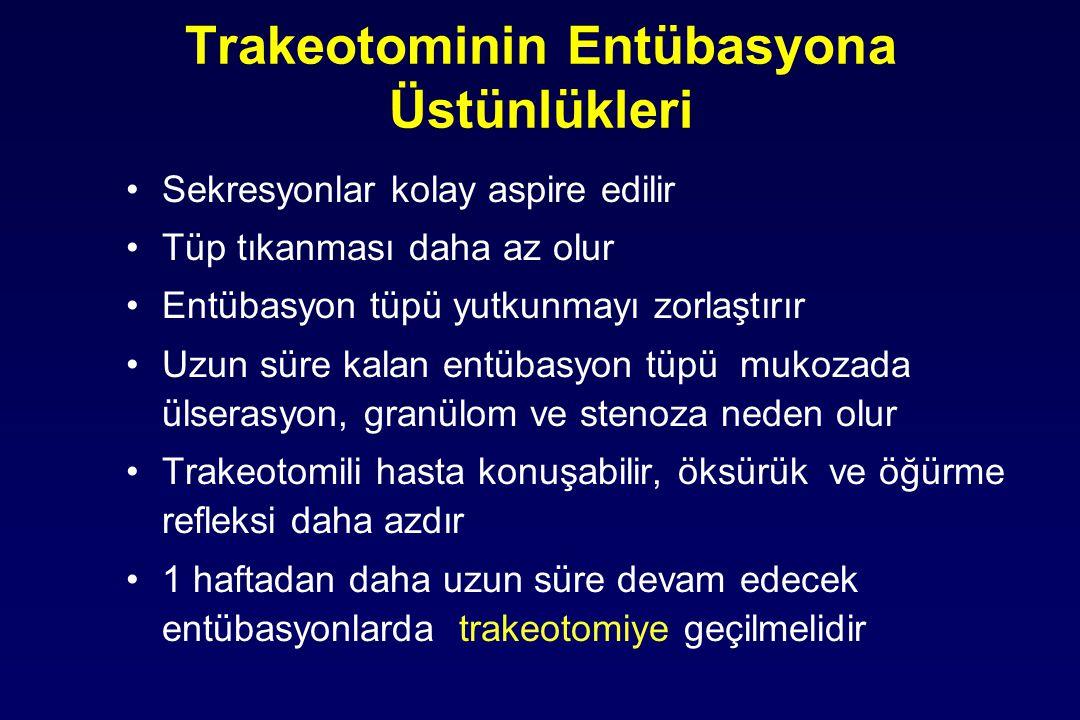 Trakeotominin Entübasyona Üstünlükleri
