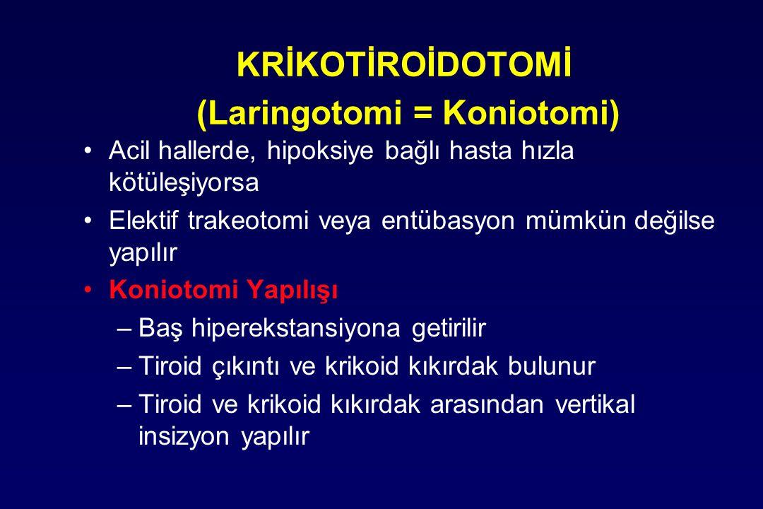 KRİKOTİROİDOTOMİ (Laringotomi = Koniotomi)