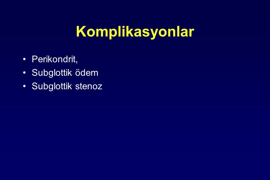 Komplikasyonlar Perikondrit, Subglottik ödem Subglottik stenoz