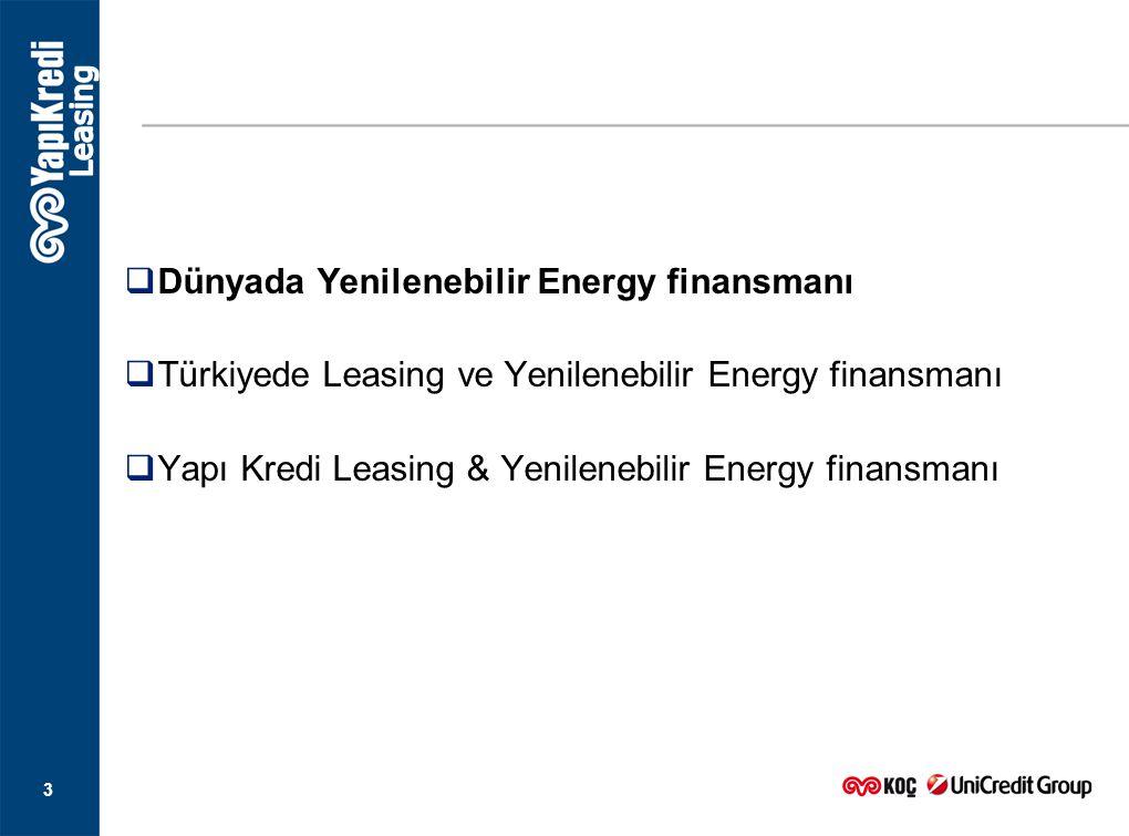 Dünyada Yenilenebilir Energy finansmanı