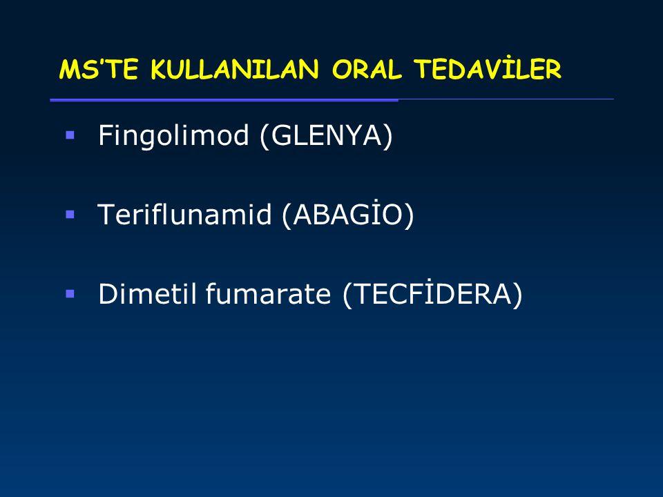 MS'TE KULLANILAN ORAL TEDAVİLER