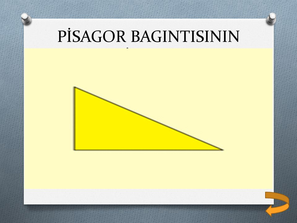 PİSAGOR BAGINTISININ İSPATI