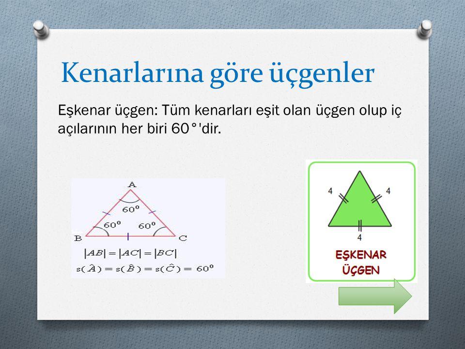 Kenarlarına göre üçgenler