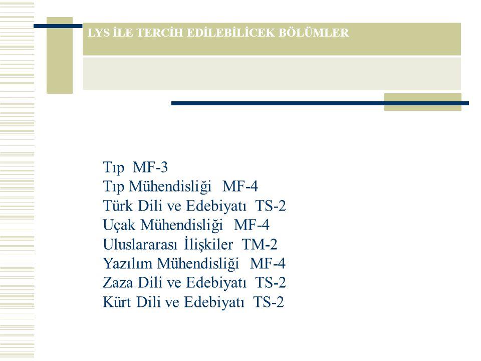 Türk Dili ve Edebiyatı TS-2 Uçak Mühendisliği MF-4