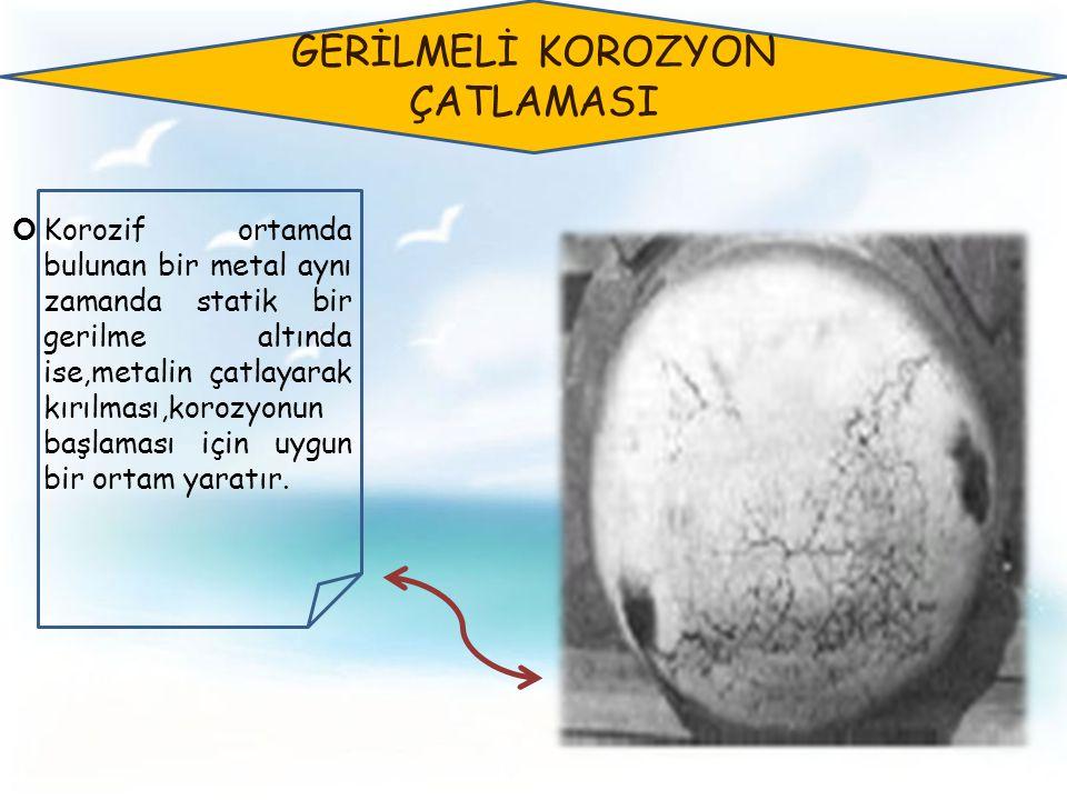 GERİLMELİ KOROZYON ÇATLAMASI