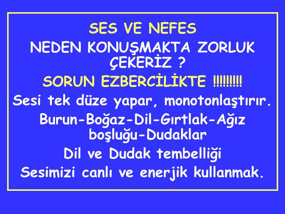NEDEN KONUŞMAKTA ZORLUK ÇEKERİZ SORUN EZBERCİLİKTE !!!!!!!!!