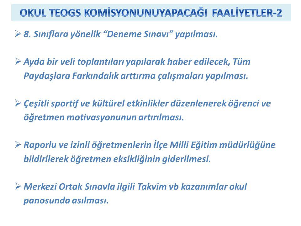 OKUL TEOGS KOMİSYONUNUYAPACAĞI FAALİYETLER-2