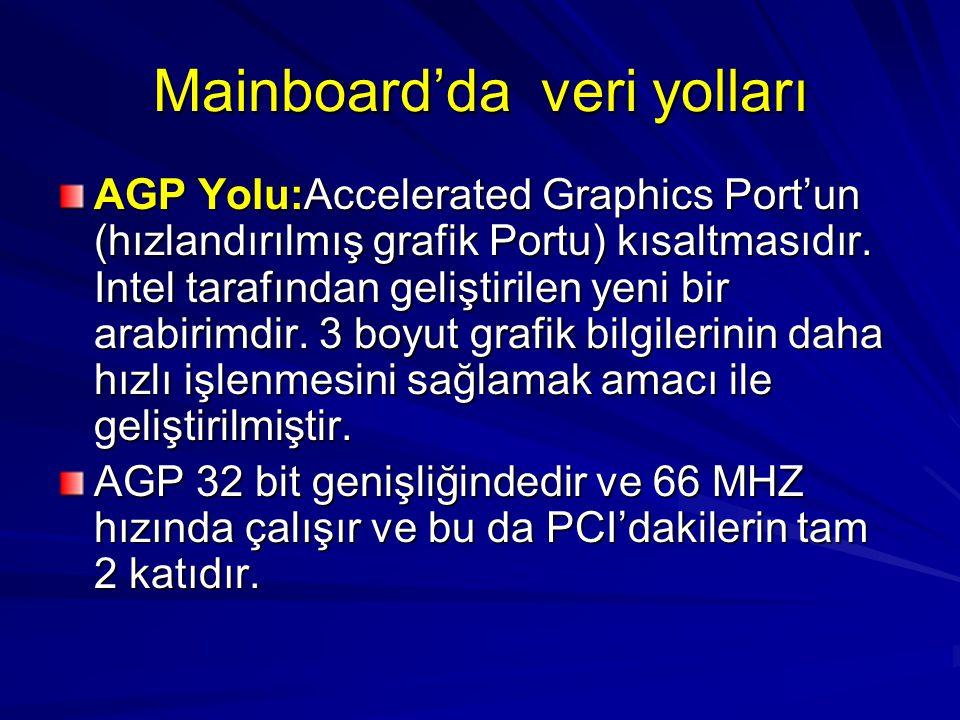 Mainboard'da veri yolları