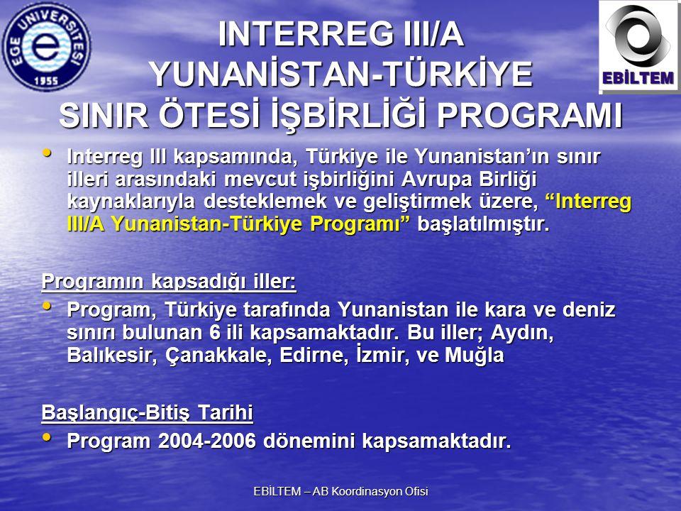 INTERREG III/A YUNANİSTAN-TÜRKİYE SINIR ÖTESİ İŞBİRLİĞİ PROGRAMI