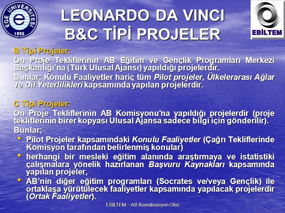LEONARDO DA VINCI B&C TİPİ PROJELER