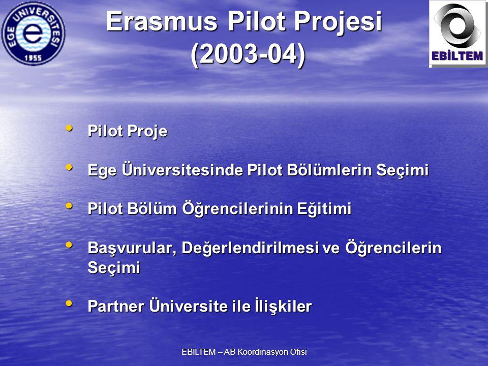 Erasmus Pilot Projesi (2003-04)