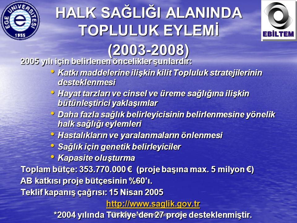 HALK SAĞLIĞI ALANINDA TOPLULUK EYLEMİ (2003-2008)