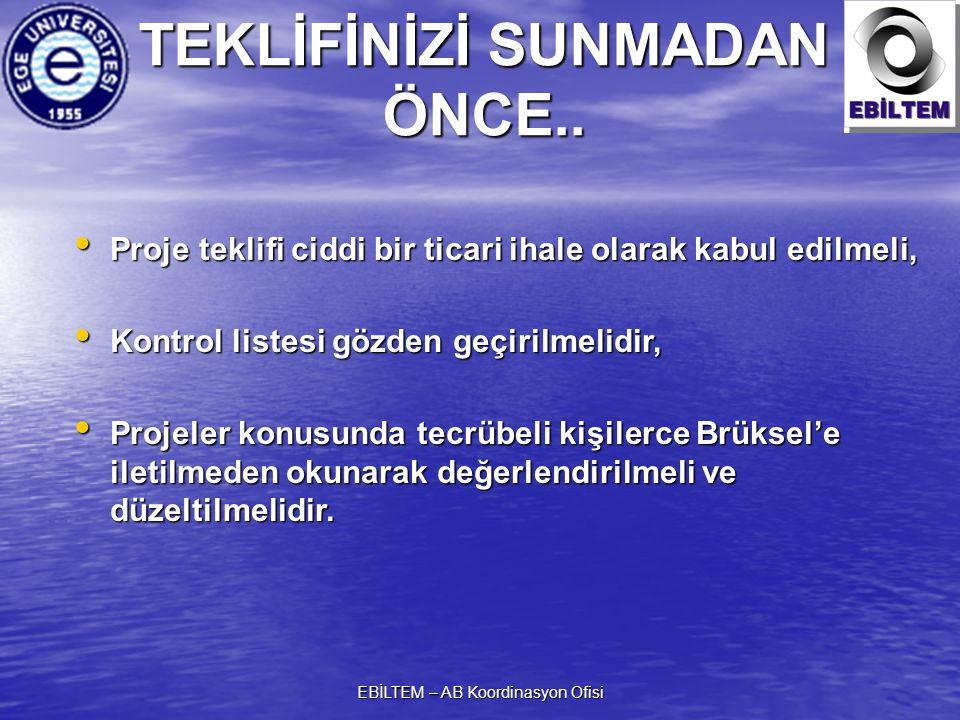 TEKLİFİNİZİ SUNMADAN ÖNCE..