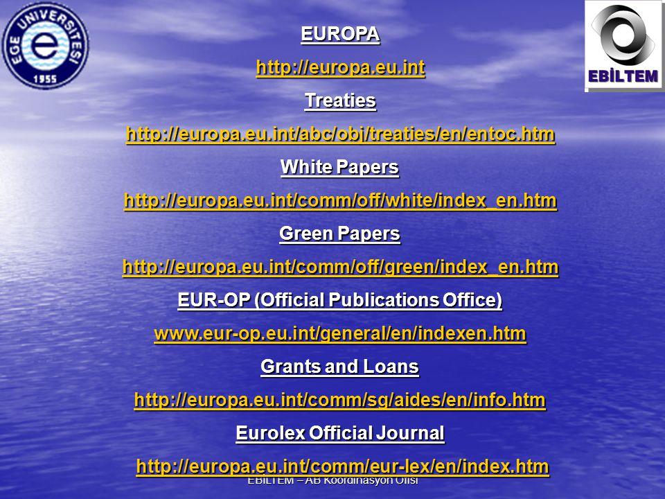 EUR-OP (Official Publications Office) Eurolex Official Journal