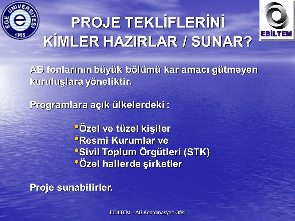 PROJE TEKLİFLERİNİ KİMLER HAZIRLAR / SUNAR