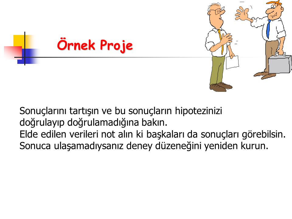 Örnek Proje Sonuçlarını tartışın ve bu sonuçların hipotezinizi