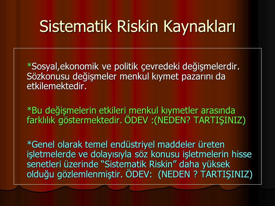 Sistematik Riskin Kaynakları