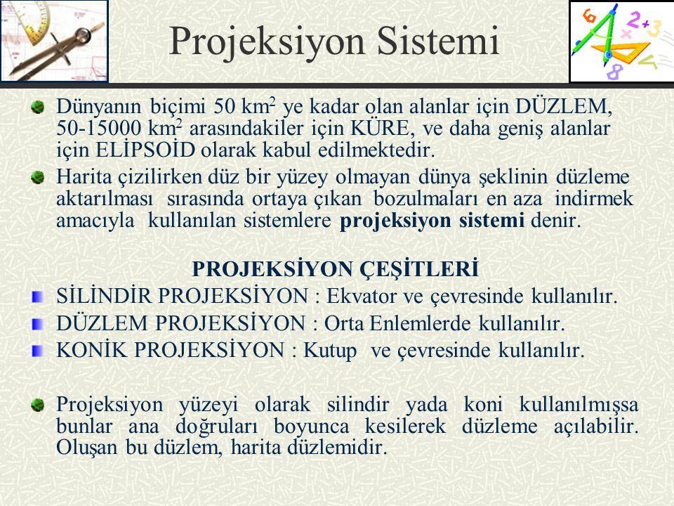 PROJEKSİYON ÇEŞİTLERİ