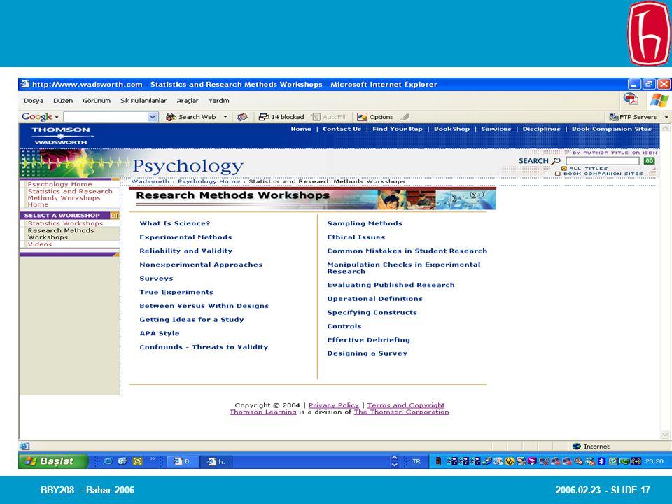 BBY208 – Bahar 2006