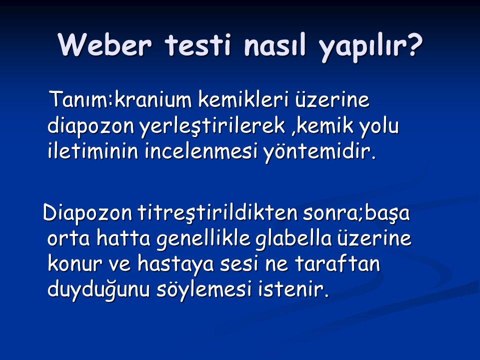 Weber testi nasıl yapılır