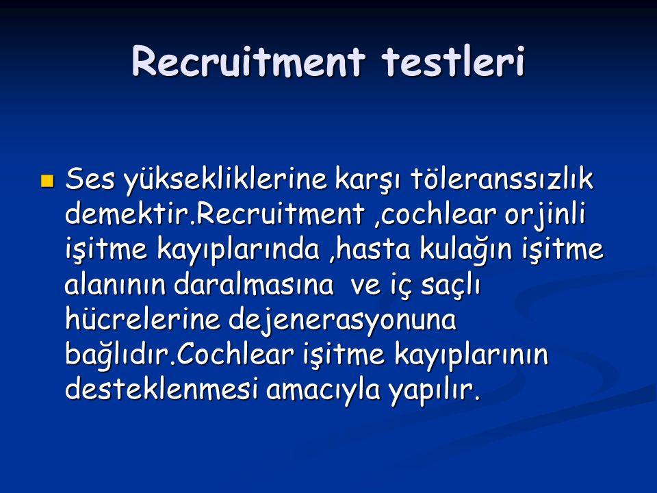 Recruitment testleri
