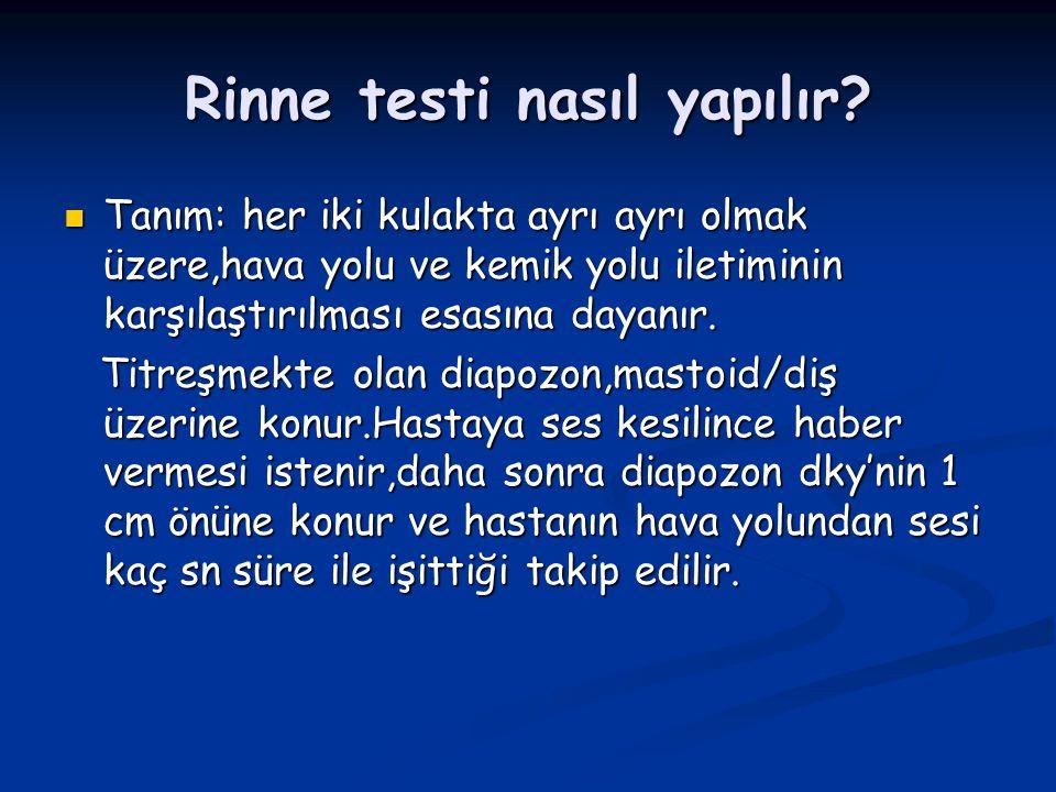 Rinne testi nasıl yapılır