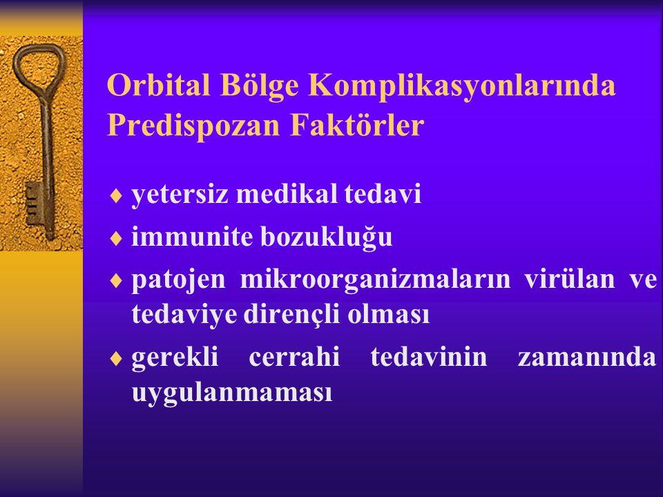 Orbital Bölge Komplikasyonlarında Predispozan Faktörler