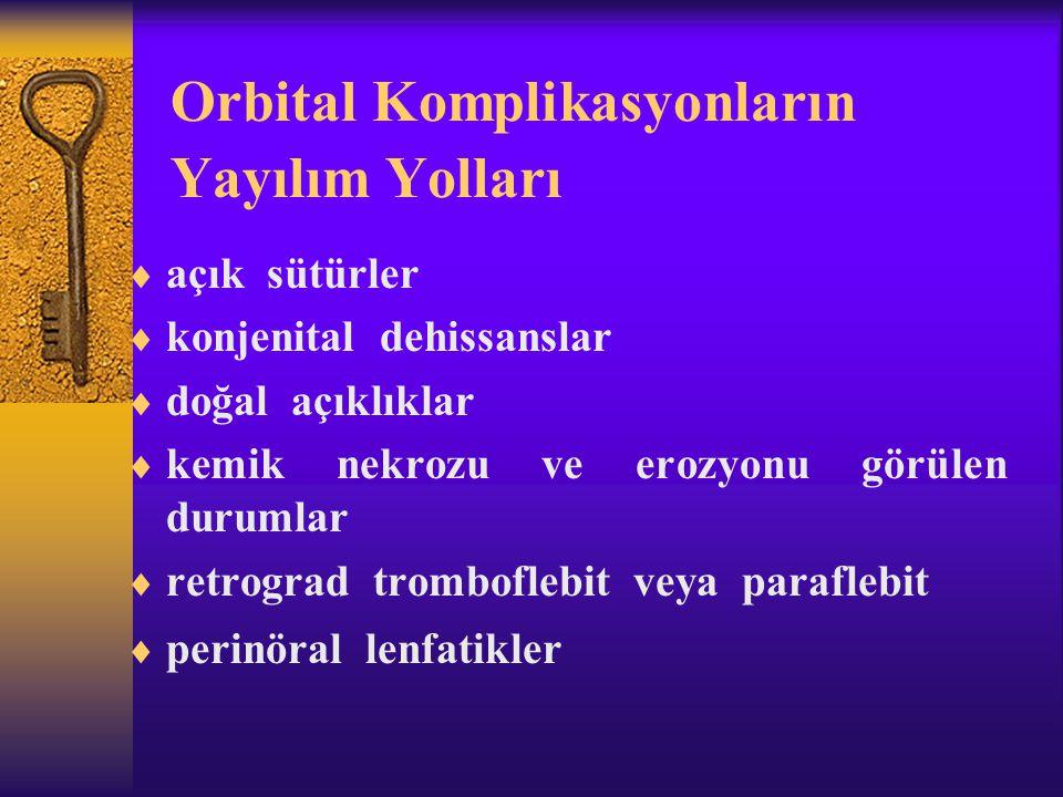 Orbital Komplikasyonların Yayılım Yolları